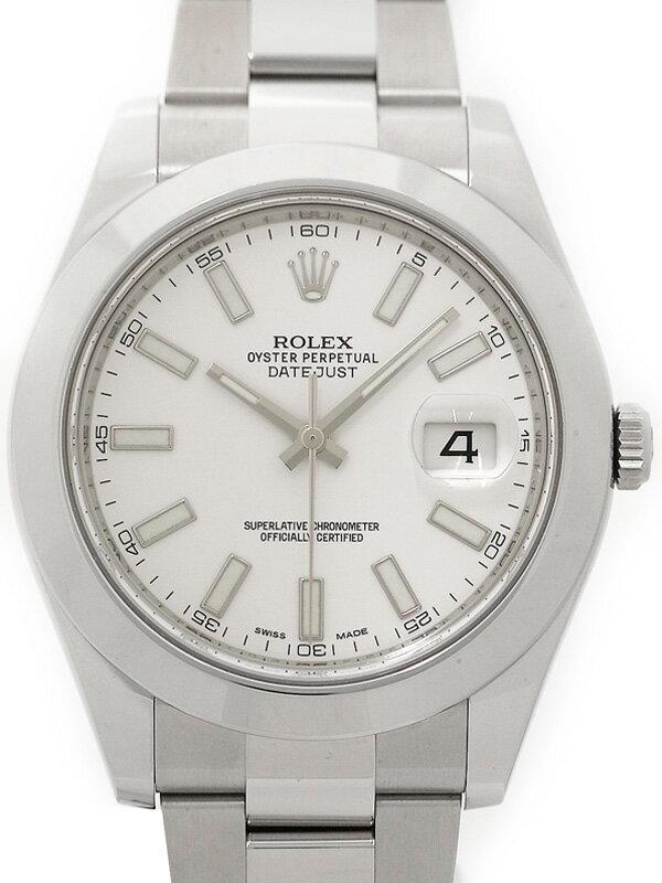 【ROLEX】【'15年購入】ロレックス『デイトジャスト2』116300 ランダム番 メンズ 自動巻き 12ヶ月保証【中古】