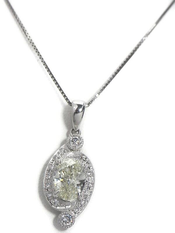 【ソーティング】セレクトジュエリー『PT900/PT850ネックレス ダイヤモンド2.012ct/M/VS-2 0.32ct』1週間保証【中古】