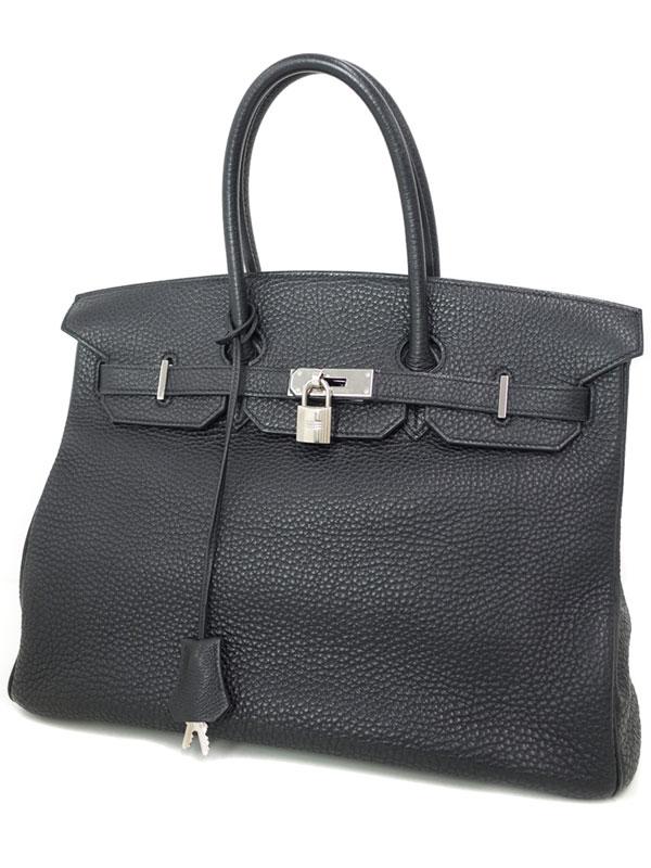 【HERMES】【シルバー金具】エルメス『バーキン35』I刻印 2005年製 レディース ハンドバッグ 1週間保証【中古】