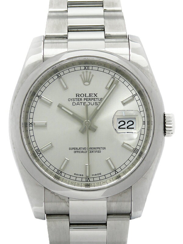 【ROLEX】【'14年購入】ロレックス『デイトジャスト』116200 ランダム番 メンズ 自動巻き 12ヶ月保証【中古】