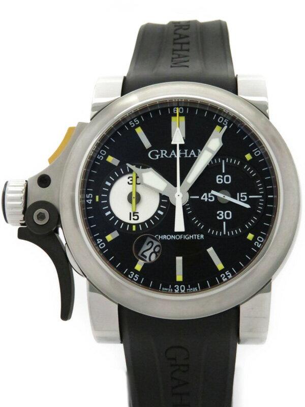 【GRAHAM】【裏スケ】グラハム『クロノファイター RAC トリガー』2TRAS.B01A.L91B メンズ 自動巻き 3ヶ月保証【中古】