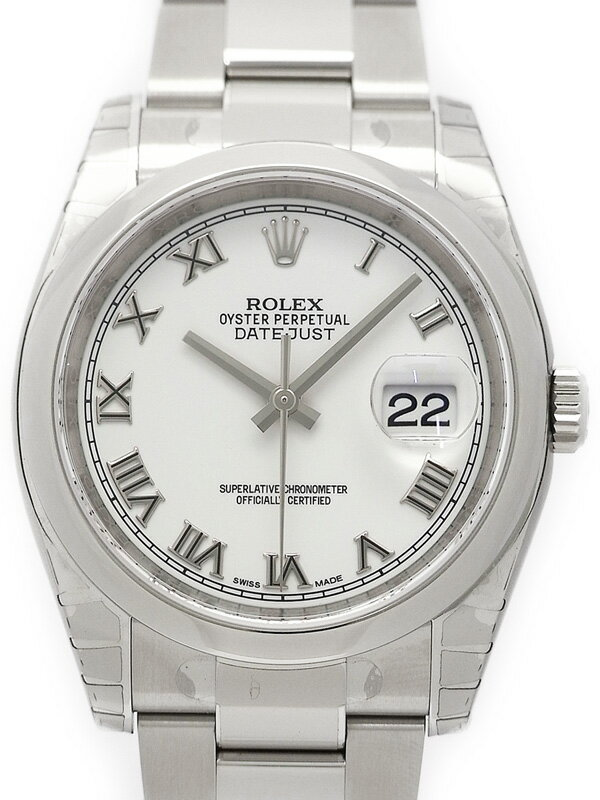 【ROLEX】【ホワイトローマン】【'16年購入】ロレックス『デイトジャスト』116200 ランダム番 メンズ 自動巻き 12ヶ月保証【中古】