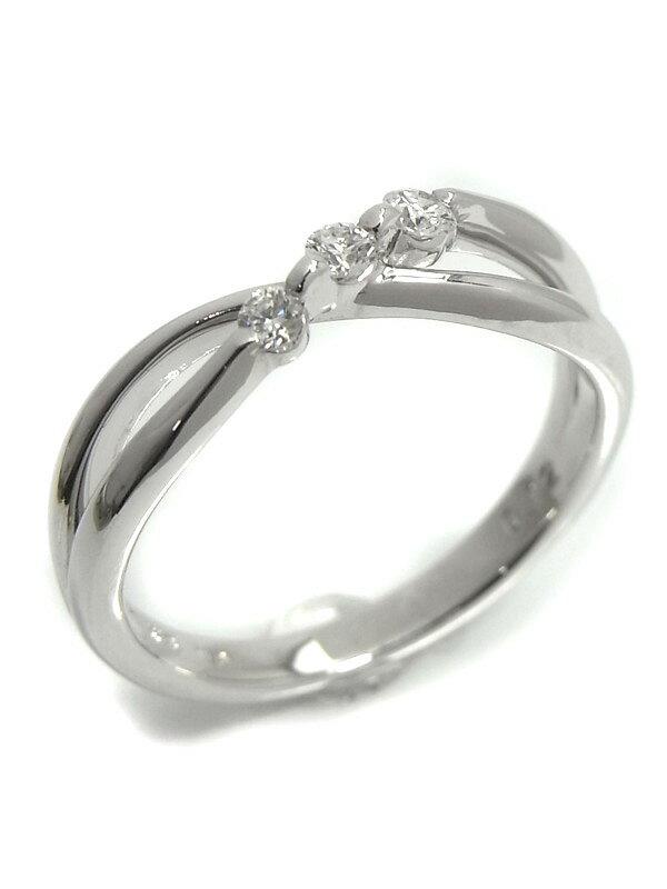 【TASAKI】【仕上済】タサキ『K18WGリング ダイヤモンド0.12ct』11.5号 1週間保証【中古】