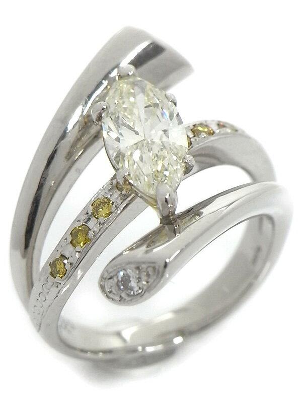 【ソーティング】【仕上済】セレクトジュエリー『PT900リング ダイヤモンド1.339ct/VERY LIGHT YELLOW/SI-2 0.24ct』10.5号 1週間保証【中古】
