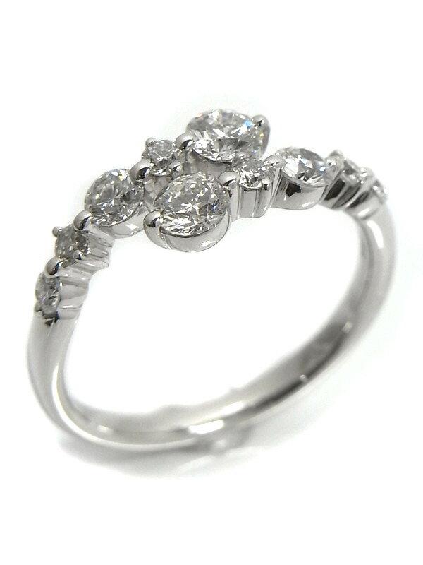 【仕上済】セレクトジュエリー『K18WGリング ダイヤモンド0.70ct』11号 1週間保証【中古】