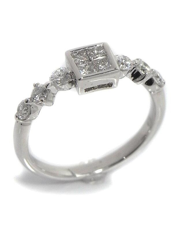 【仕上済】セレクトジュエリー『K18WGリング ダイヤモンド0.65ct』9.5号 1週間保証【中古】