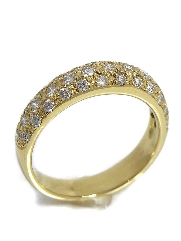 【パヴェダイヤ】セレクトジュエリー『K18YGリング ダイヤモンド0.60ct』10号 1週間保証【中古】