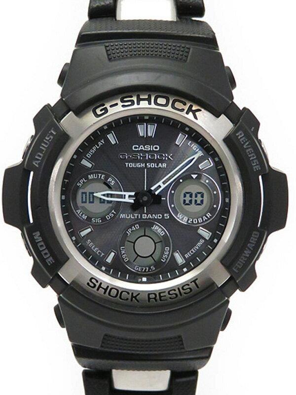 【CASIO】【G-SHOCK】カシオ『Gショック』AWG-100C-1AJF メンズ ソーラー電波クォーツ 1週間保証【中古】