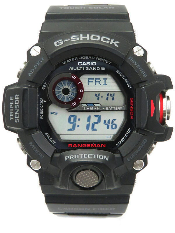 【CASIO】【G-SHOCK】カシオ『Gショック レンジマン』GW-9400J-1JF メンズ ソーラー電波クォーツ 1週間保証【中古】