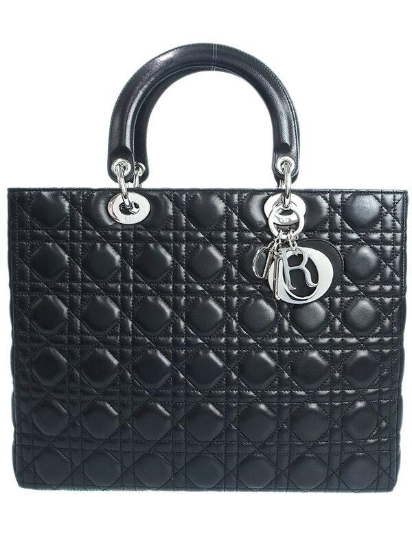 【Christian Dior】【カナージュ】クリスチャンディオール『レディディオール (L)』レディース ハンドバッグ 1週間保証【中古】
