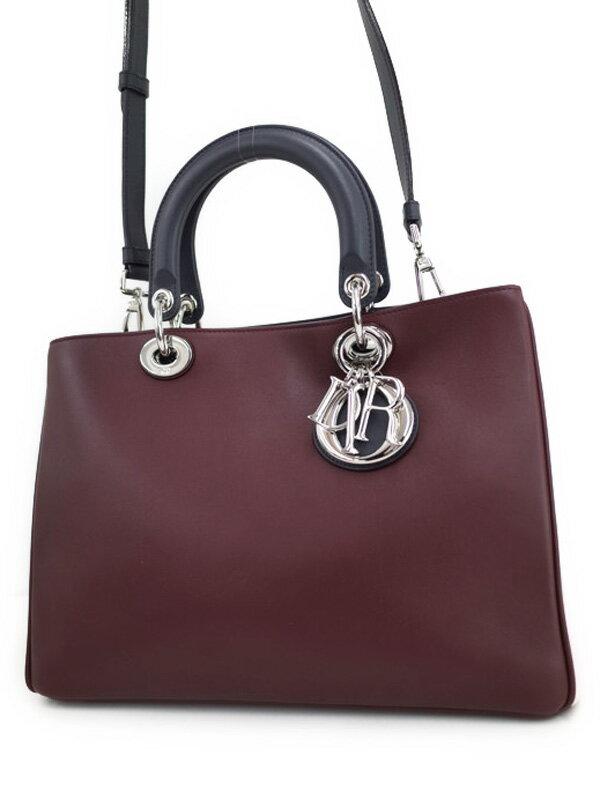 【Christian Dior】【ポーチ付】クリスチャンディオール『ディオリッシモ (L)』M0902PTVS レディース 2WAYバッグ 1週間保証【中古】