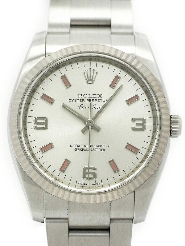 【ROLEX】【ピンクインデックス】ロレックス『エアキング』114234 Z番'06年頃製 メンズ 自動巻き 12ヶ月保証【中古】