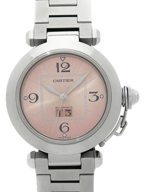 【Cartier】【OH済】カルティエ『パシャC ビッグデイト』W31058M7 ボーイズ 自動巻き 3ヶ月保証【中古】