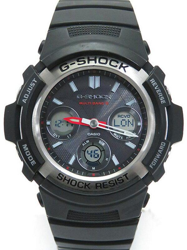 【CASIO】【G-SHOCK】カシオ『Gショック デジアナ』AWG-M100-1AJF メンズ ソーラー電波クォーツ 1週間保証【中古】