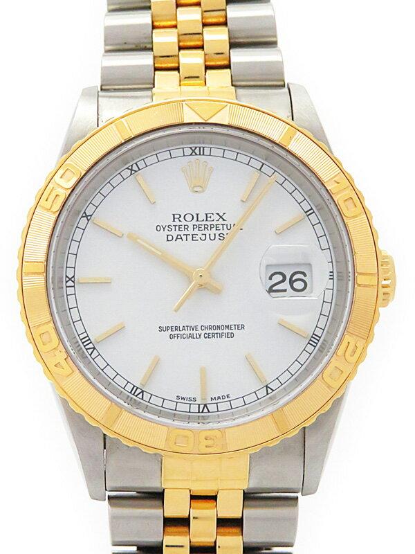 【ROLEX】【'14年日ロレOH済】ロレックス『デイトジャスト サンダーバード』16263 K番'01年頃製 メンズ 自動巻き 12ヶ月保証【中古】