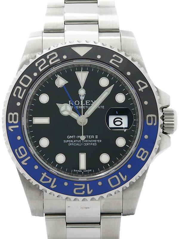 【ROLEX】【'15年購入】ロレックス『GMTマスター2 青×黒ベゼル』116710BLNR ランダム番 メンズ 自動巻き 12ヶ月保証【中古】