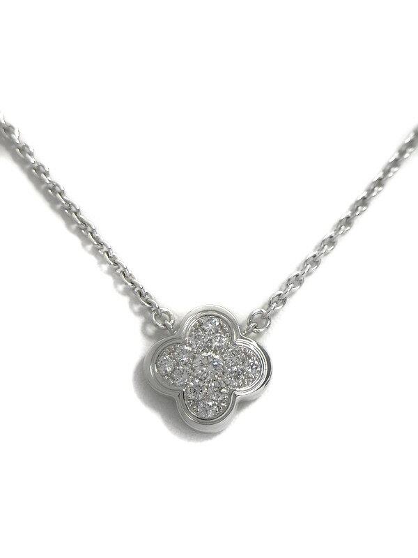 【VCA】ヴァンクリーフ&アーペル『ピュア アルハンブラ ネックレス ダイヤモンド』1週間保証【中古】