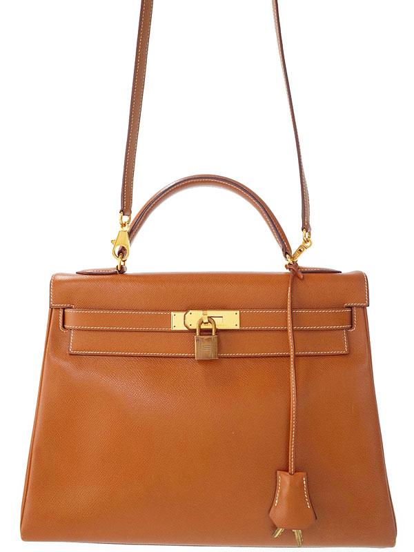 【HERMES】【ゴールド金具】エルメス『ケリー32 内縫い』S刻印 1989年製 レディース 2WAYバッグ 1週間保証【中古】