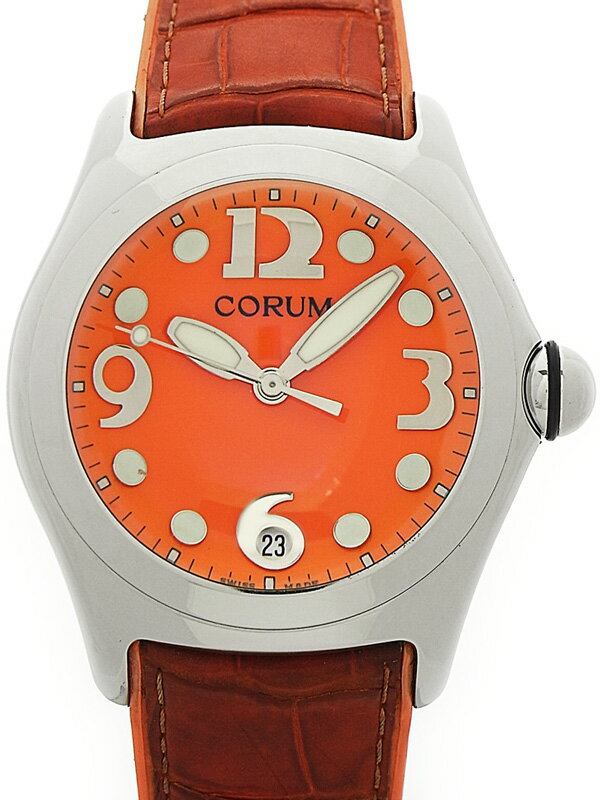 【CORUM】【電池交換済】コルム『バブル』163.150.20 メンズ クォーツ 1ヶ月保証【中古】