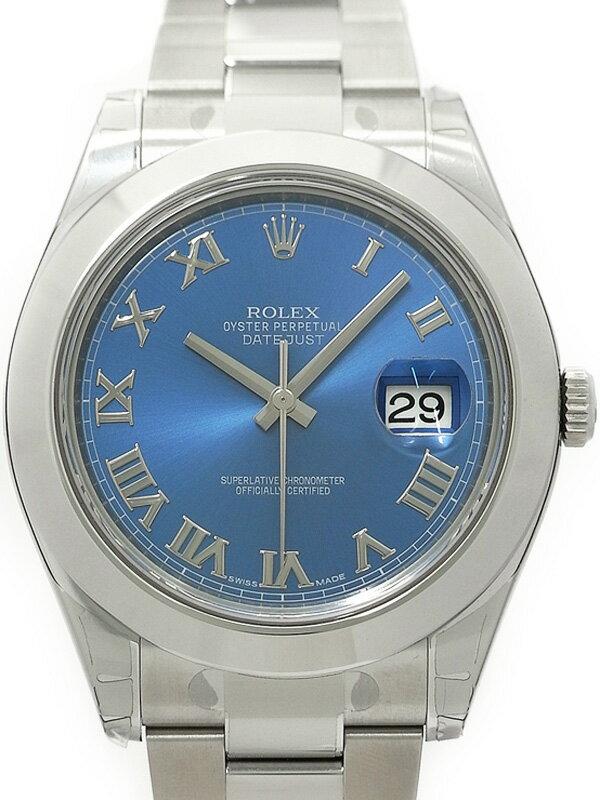 【ROLEX】【'17年購入】【ブルーローマン】ロレックス『デイトジャスト2』116300 ランダム番 メンズ 自動巻き 12ヶ月保証【中古】