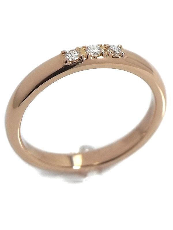 【TASAKI】【仕上済】タサキ『K18PGリング ダイヤモンド0.05ct』8号 1週間保証【中古】