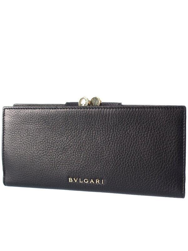 【BVLGARI】ブルガリ『モネーテ がま口長財布』36335 ユニセックス 1週間保証【中古】