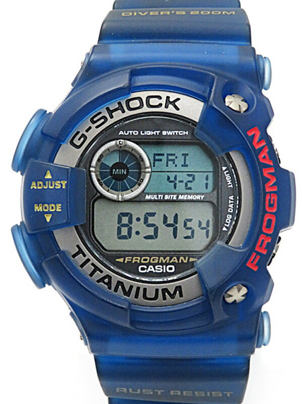 【CASIO】【G-SHOCK】カシオ『Gショック フロッグマン』DW-9900BS-2JF メンズ クォーツ 1週間保証【中古】