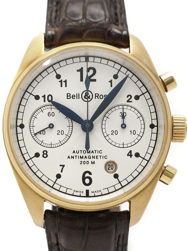 【Bell&Ross】【裏スケ】【YGケース】ベル&ロス『クロノグラフ アンチマグネティック』メンズ 自動巻き 6ヶ月保証【中古】