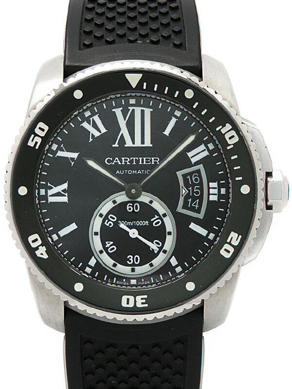 【CARTIER】【内部点検済】カルティエ『カリブル ドゥ カルティエ ダイバー』W7100056 メンズ 自動巻き 6ヶ月保証【中古】