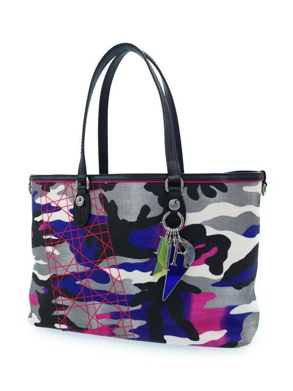 【Christian Dior】クリスチャンディオール『アンセルム ライル コラボ トートバッグ』M0171PTP1 レディース 1週間保証【中古】