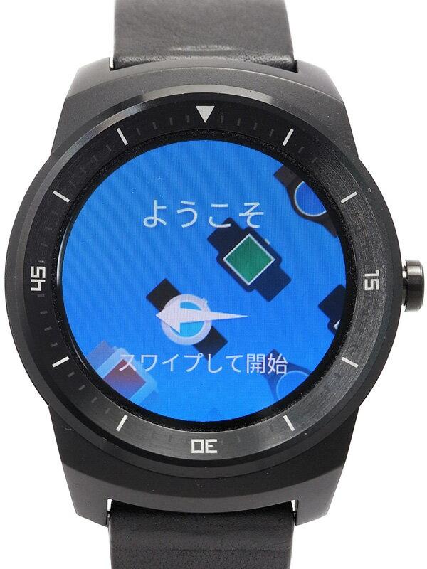 【LG Electronics】【スマートウォッチ】エルジーエレクトロニクス『G watch R』W110 ウェアラブル端末 1週間保証【中古】