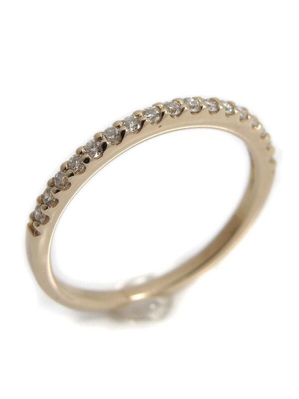 【Ponte Vecchio】ポンテヴェキオ『K18PGリング ダイヤモンド0.14ct ハーフエタニティ』8号 1週間保証【中古】