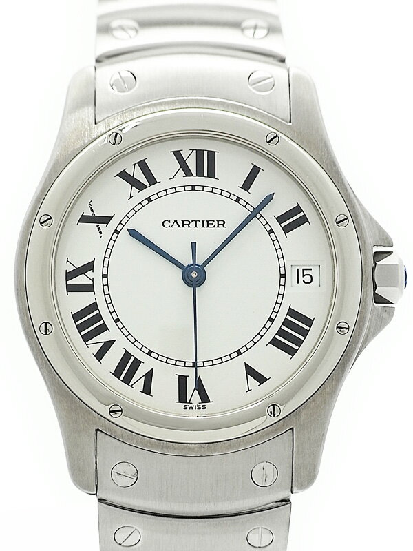 【CARTIER】【内部点検・仕上済】カルティエ『クーガー』メンズ 自動巻き 3ヶ月保証【中古】