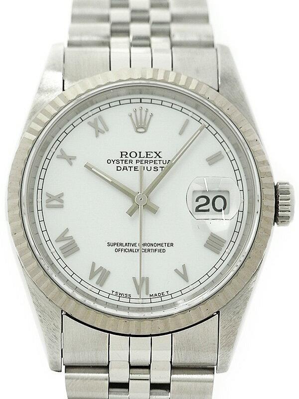 【ROLEX】【ホワイトローマン】ロレックス『デイトジャスト』16234 S番'93年頃製 メンズ 自動巻き 12ヶ月保証【中古】