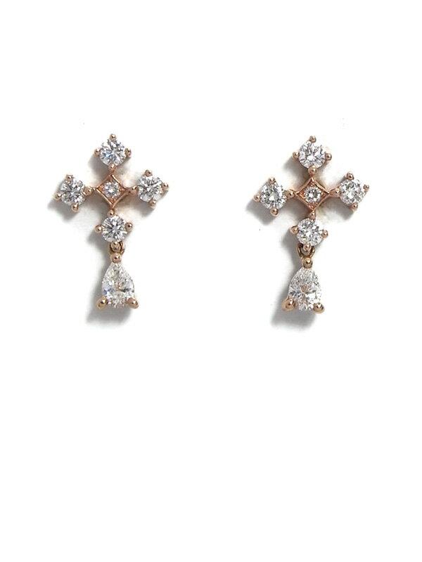 【スタッドピアス】セレクトジュエリー『K18PG/K18YGピアス ダイヤモンド0.160ct 0.300ct』1週間保証【中古】
