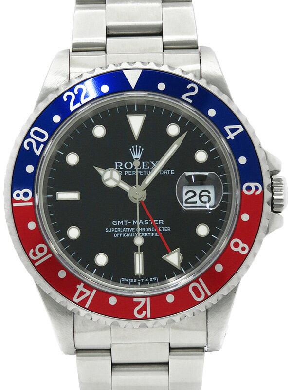 【ROLEX】ロレックス『GMTマスター 赤×青ベゼル』16700 T番'96年頃製 メンズ 自動巻き 12ヶ月保証【中古】