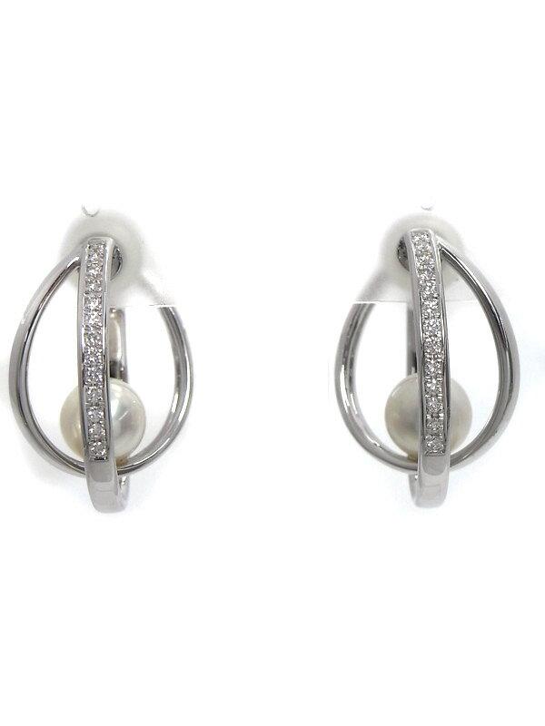【TASAKI】【ネジ式】タサキ『K18WG/K14WGイヤリング パール ダイヤモンド』1週間保証【中古】