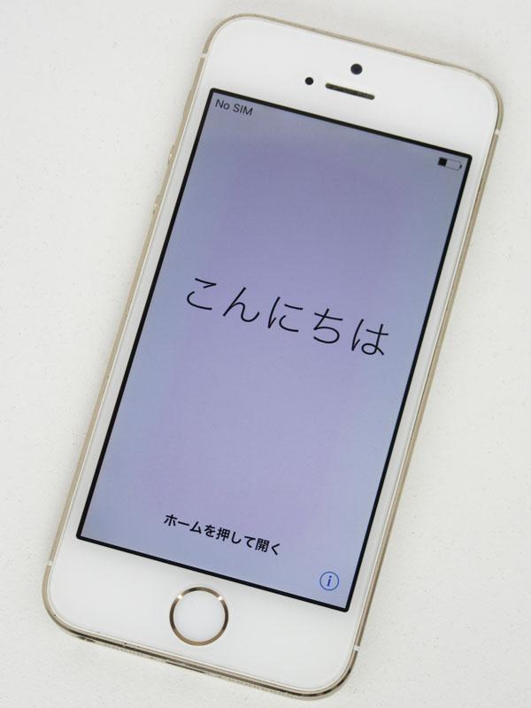 【Apple】アップル『iPhone 5s 16GB au』NE334J/A ゴールド iOS10.3.1 4型 ○判定 白ロム スマートフォン【中古】
