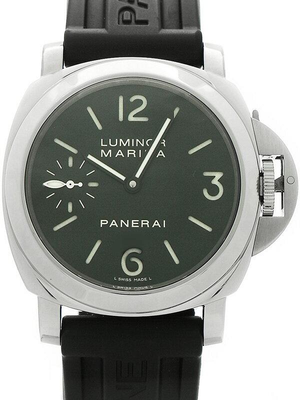 【PANERAI】【裏スケ】パネライ『ルミノールマリーナ 44mm』PAM00111 K番'08年製 メンズ 手巻き 6ヶ月保証【中古】