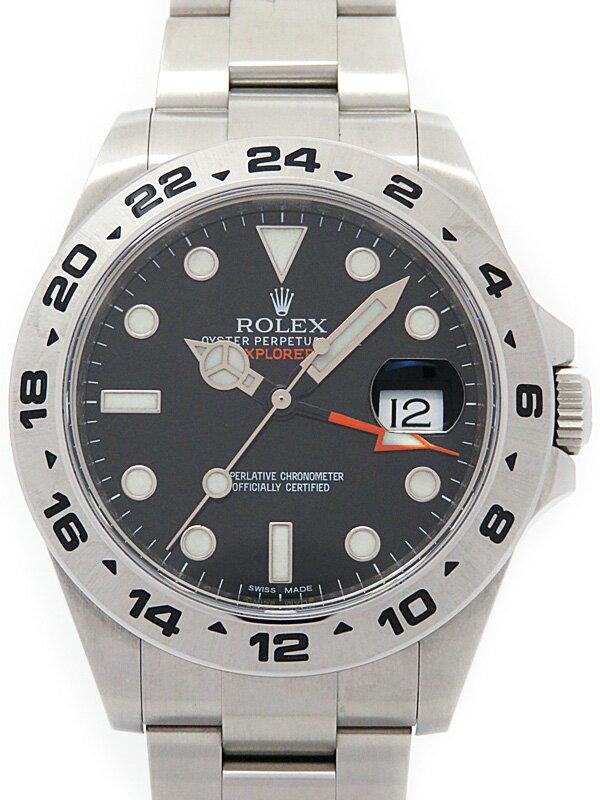 【ROLEX】【'13年購入】ロレックス『エクスプローラー2』216570 ランダム番 メンズ 自動巻き 12ヶ月保証【中古】