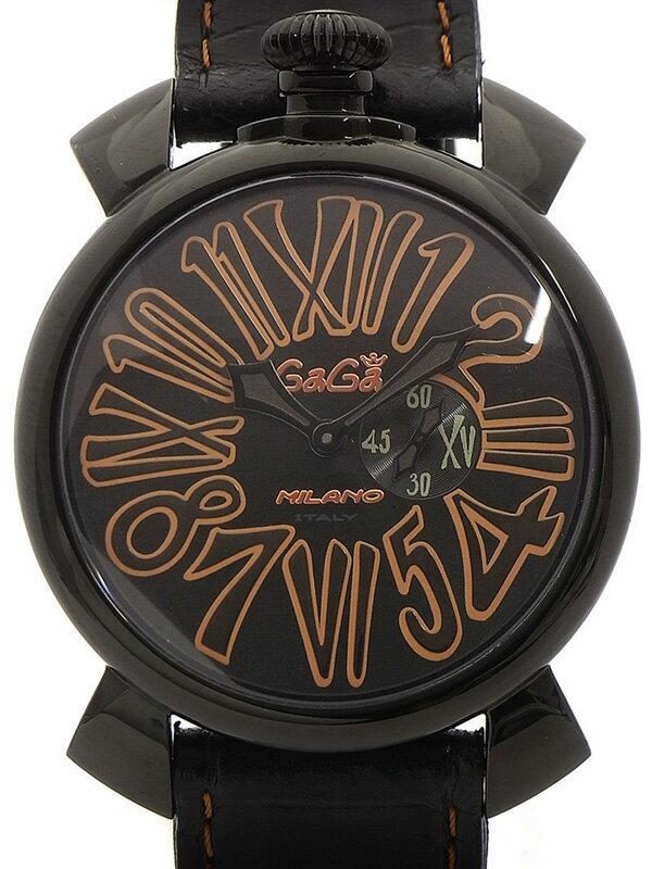 【GaGa MILANO】ガガミラノ『マヌアーレ スリム 46mm』5086.1 メンズ クォーツ 1週間保証【中古】