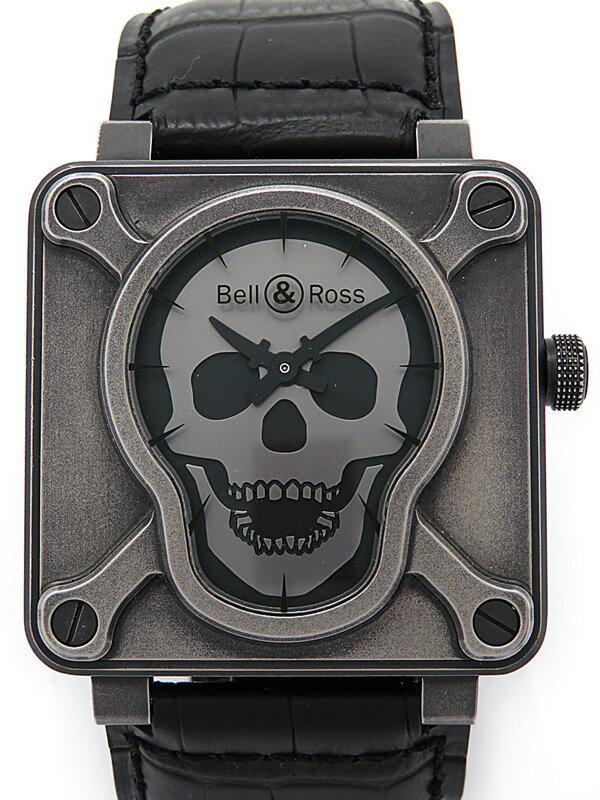 【Bell&Ross】【スカルダイアル】ベルアンドロス『エアボーン2』BR01-92 メンズ 自動巻き 3ヶ月保証【中古】