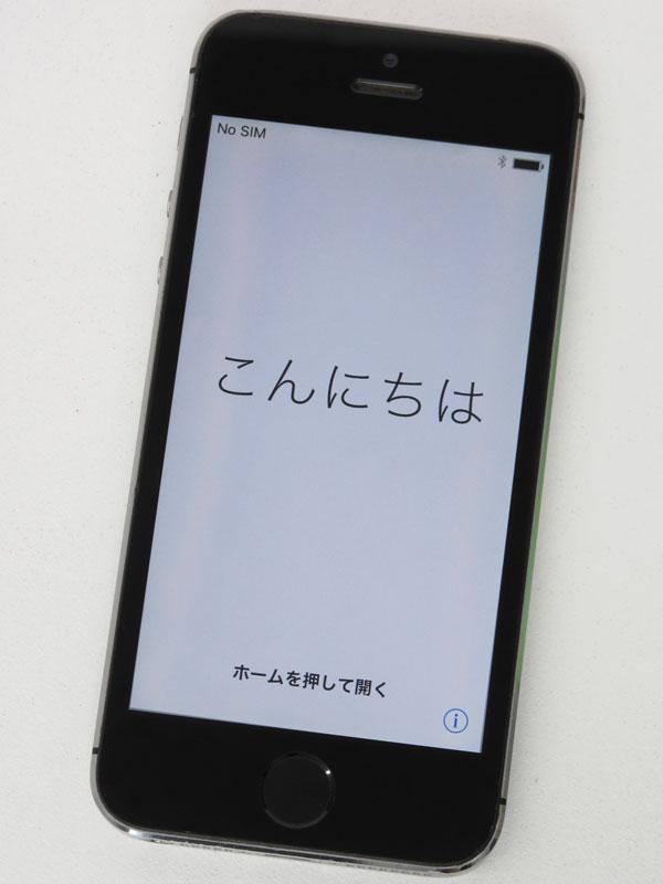 アップル『iPhone 5s 32GB au』ME335J/A スペースグレイ 4型Retina ○判定 スマートフォン【中古】
