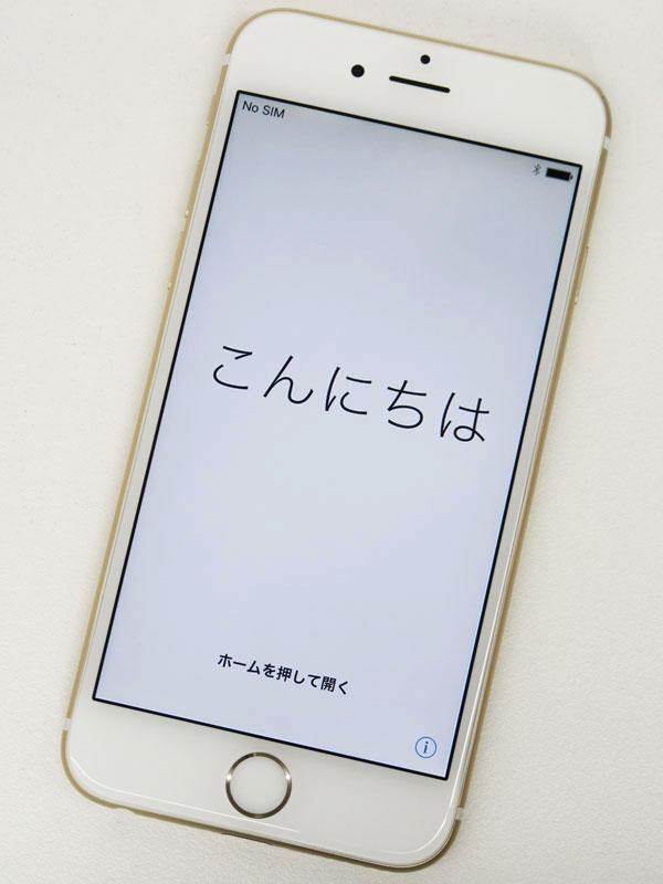 【Apple】アップル『iPhone 6 64GB au』MG4J2J/A ゴールド iOS10.3.1 4.7型 白ロム ○判定 スマートフォン【中古】