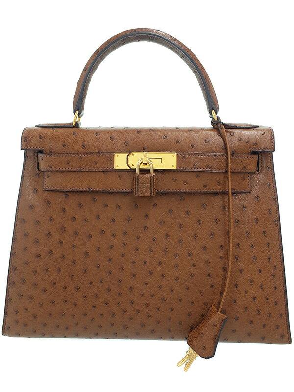 【HERMES】【ゴールド金具】エルメス『ケリー28 外縫い』B刻印 1998年製 レディース ハンドバッグ 1週間保証【中古】