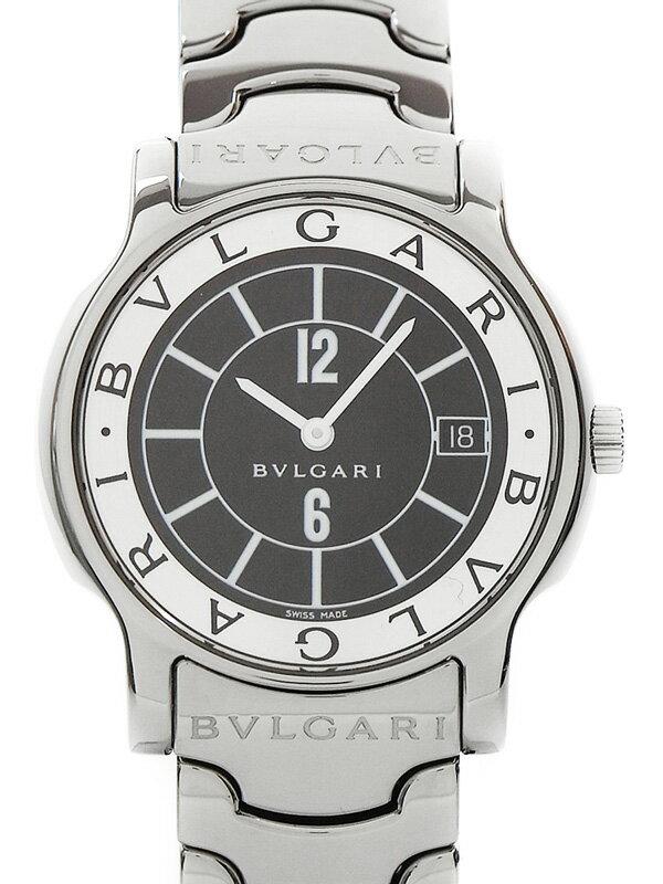 【BVLGARI】【電池交換済】ブルガリ『ソロテンポ』ST35S ボーイズ クォーツ 1ヶ月保証【中古】