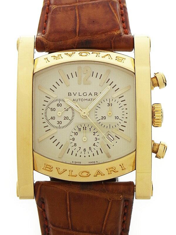 【BVLGARI】【YGケース】ブルガリ『アショーマ クロノグラフ』AA44GCH メンズ 自動巻き 6ヶ月保証【中古】