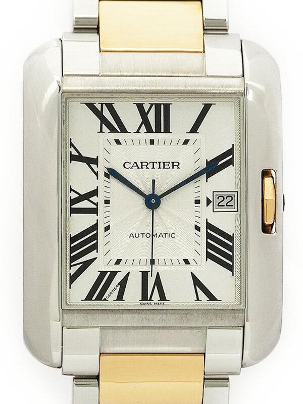 【CARTIER】【裏スケ】カルティエ『タンクアングレーズXL』W5310006 メンズ 自動巻き 3ヶ月保証【中古】