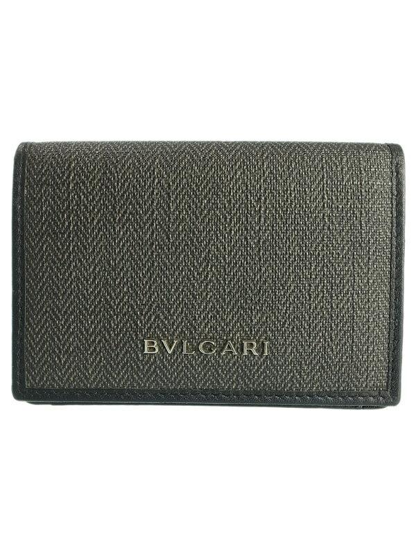 【BVLGARI】ブルガリ『ウィークエンド カードケース』32588 メンズ 名刺入れ 1週間保証【中古】