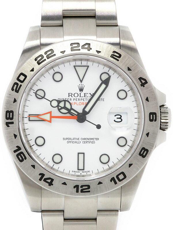 【ROLEX】【'14年購入】ロレックス『エクスプローラー2』216570 ランダム製番 メンズ 自動巻き 12ヶ月保証【中古】